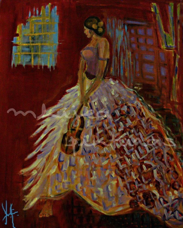 María Antonieta, oleo sobre lienzo